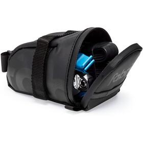Fabric Contain Saddle Bag M black